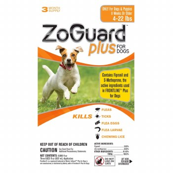 Zoguard Plus Dogs 4-22 lbs