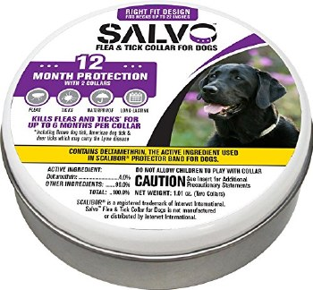 Salvo Flea And Tick Collar Large 6 Month Protection 2 Pack