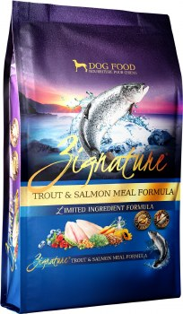 Zignature Trout & Salmon Meal Limited Ingredient Formula Grain Free Dry Dog Food 4lb