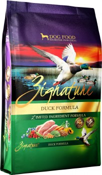 Zignature Duck Limited Ingredient Formula Grain Free Dry Dog Food 27lb