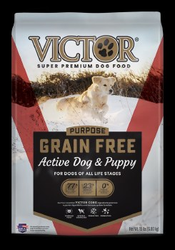Victor Active Dog and Puppy Formula Grain Free Dry Dog Food 15lb