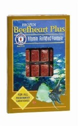 Frozen Beefheart Plus for all freshwater carnivores 30 cubes 3.5oz