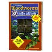 Frozen Bloodworms for all Freshwater Fish 30 cubes 3.5oz