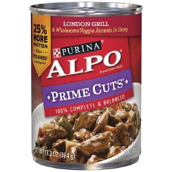 ALPO Prime Cuts London Grill and Wholesome Veggie Accents in Gravy Canned Dog Food 13.2oz