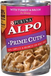 ALPO Prime Cuts with Turkey and Bacon in Gravy Canned Dog Food 13.2oz