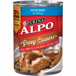 ALPO Gravy Cravers With Beef In Gravy Canned Dog Food 13.2oz