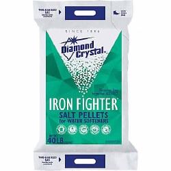 Diamond Crystal Iron Fighter Salt Pellets, 40 lb. Bag