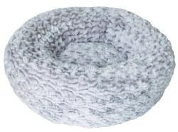 DogIt Rosebud Donut Style Grey Dog Bed Extra Small