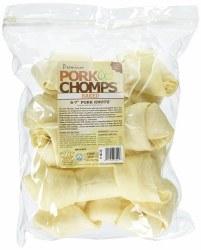 Premium Pork Chomps 6-7 Inch Knot Bone 6 Count