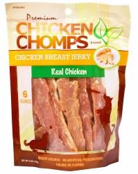 Premium Chicken Chomps Chicken Breast Jerky Dog Treats 6 Ounce Bag