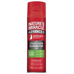 Natures Miracle Advanced Cats Stain And Odor Foam Aersol Spray 17.5oz