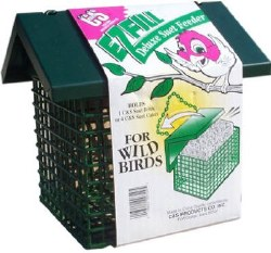 Easy Fill Deluxe Suet Feeder With Roof for Wild Birds