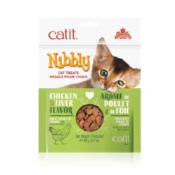 Catit Nibbly Chicken And Liver Flavor Cat Treats 3.17oz Bag