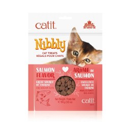 Catit Nibbly Salmon Flavor Cat Treats 3.17oz Bag