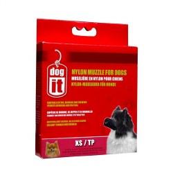 DogIt Extra Small Nylon Dog Muzzle 4 Inch Black