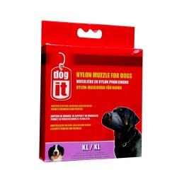 Nylon Dog Muzzle-Black-XL 8.5