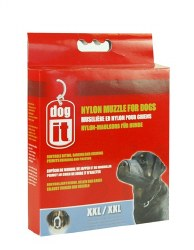 DogIt 13 Inch XXL Nylon Dog Muzzle Black