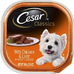 Cesar Classics Pate with Chicken and Liver Dog Food Trays 3.5oz