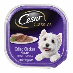Cesar Classics Pate Grilled Chicken Flavor Dog Food Trays 3.5oz