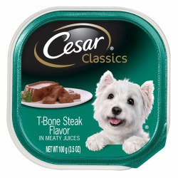 Cesar Classics Pate T-Bone Steak Flavor Dog Food Trays 3.5oz