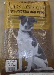 All Breeds Dog Food 18% 40lb