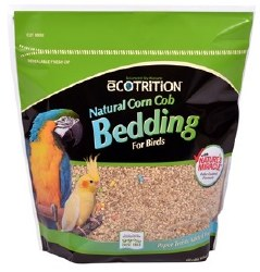 Ecotrition Natural Corn Cob Bedding With Natures Miracle For Birds 10 Liter