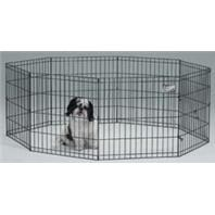 MidWest Exercise Pen with Step-Thru Door, Black E-Coat 24 x 24