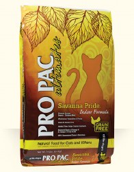 Pro Pac Ultimates Savanna Pride Chicken Grain Free Indoor Dry Cat Food 5lb