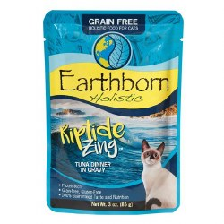 Earthborn Holistic Riptide Zing Tuna Dinner in Gravy Grain Free Wet Cat Food Pouches 3oz