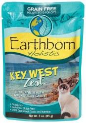 Earthborn Holistic Key West Zest Tuna Dinner with Mackerel in Gravy Grain Free Wet Cat Food Pouches 3oz