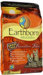 Earthborn Holistic Primitive Feline Grain Free Natural Dry Cat and Kitten Food 14lb
