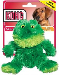KONG Plush Frog Dog Toy Small