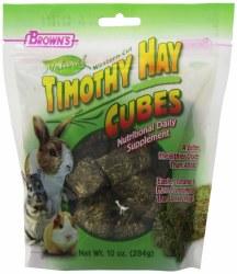 Browns Western Cut Timothy Hay Cubes Small Animal Treat 10oz