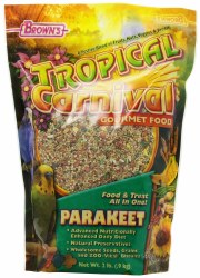 Brown's Tropical Carnival Parakeet Bird Food and Treat All In One 2lb bag