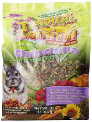 Browns Tropical Carnival Chinchilla Daily Diet Gourmet Food 3lb