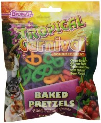 Brown's Tropical Carnival Baked Pretzel Small Animal Treats 2oz