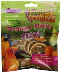 Brown's Tropical Carnival Natural Orange Slices Bird Treats 0.7oz