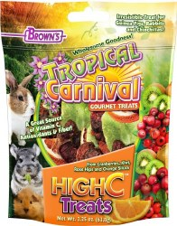 Brown's Tropical Carnival High C Small Animal Treats 2.25oz