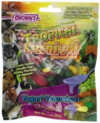 Brown's Tropical Carnival Yogurt Yummies Small Animal Treats 3oz