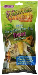 Brown's Tropical Carnival Mini Corn-on-the-Cob with Husks Small Animal Treats 5.5oz
