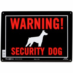 Warning Security Dog 10x14