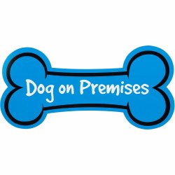 Dog On Premises 6x15 Blue Bone