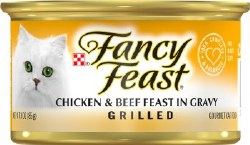 Fancy Feast Grilled Chicken and Beef Feast in Gravy Canned Cat Food 3oz