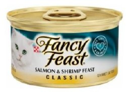 Fancy Feast Classic Salmon and Shrimp Feast Canned Cat Food 3oz