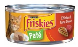 Friskies Classic Pate Chicken and Tuna Dinner Canned Cat Food 5.5oz