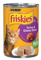 Friskies Classic Pate Turkey and Giblets Dinner Canned Cat Food 13oz