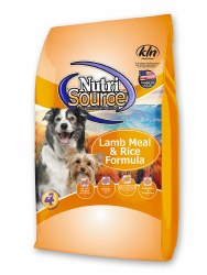 Nutrisource Lamb Meal and Rice Formula Dry Dog Food 30lb