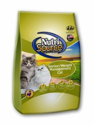 Nutrisource Senior Weight Management Chicken and Rice Dry Cat Food 15lb