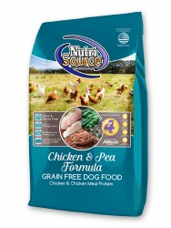 Nutrisource Grain Free Chicken and Pea Formula with Chicken Meal Protein Dry Dog Food 15lb