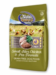 Nutrisource Grain Free Small Breed Small Bites Chicken and Pea Dry Dog Food 15lb